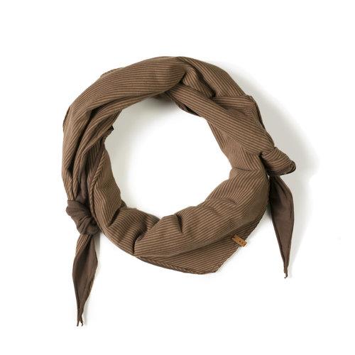 Nixnut Triangle scarf Stripe Toffee