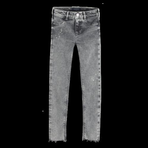 Scotch & Soda Jeans la milou cropped grey collage