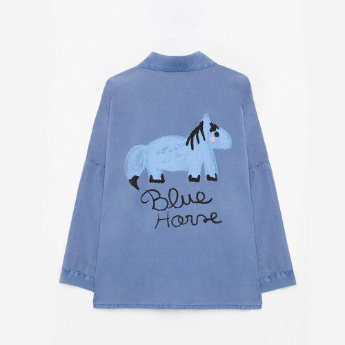 weekend house kids Blue horse shirt blouse