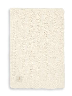 Jollein Deken  100 x 150 wieg spring knit ivory