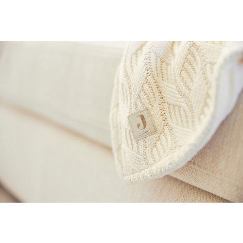 Jollein Deken  100 x 150 LEDIKANT spring knit ivory fleece
