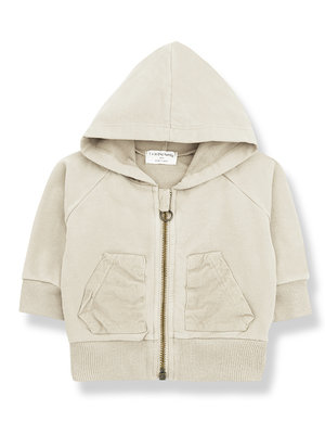 1+ in the family QUINN hood jacket alabaster