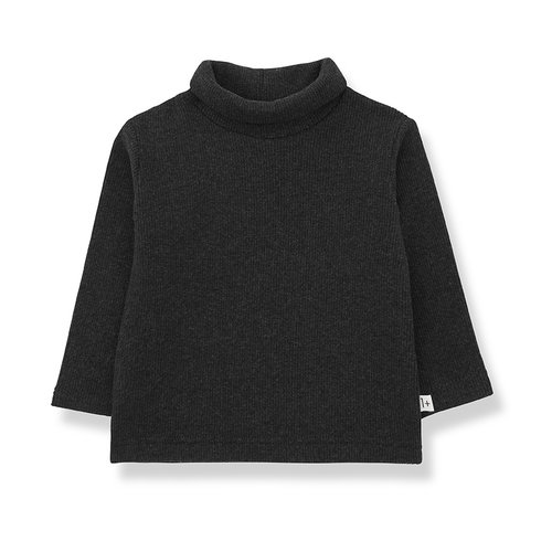 1+ in the family ARES turtleneck top charcoal