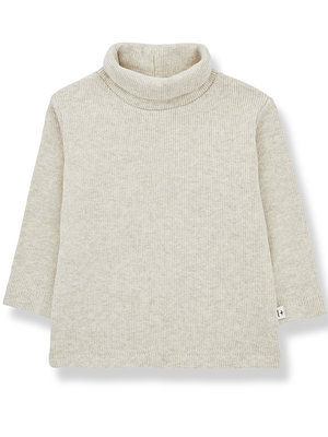 1+ in the family ARES turtleneck top alabaster
