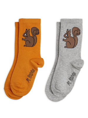 Mini rodini Squirrel socks 2-pack