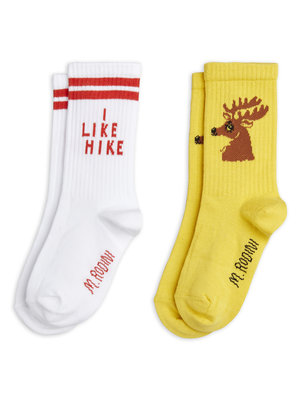 Mini rodini Hike+Deer socks 2-pack