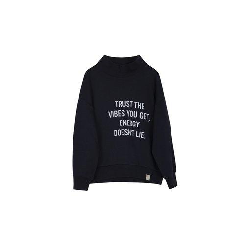 Idigdenim Tom turtle sweater organic black