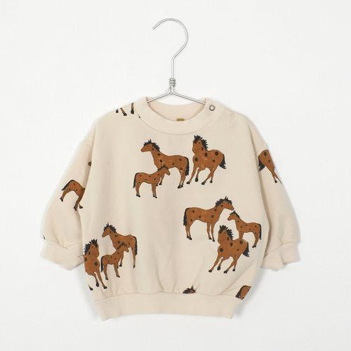 Baby sweatshirt HORSES CREAM