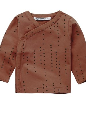 mingo Wrap Top Dewdrops Burnished Leather