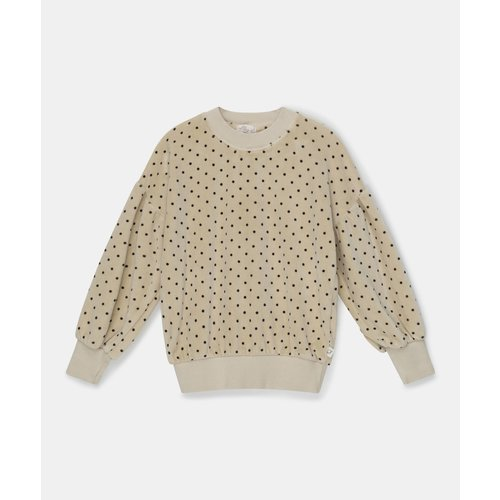 my little cozmo Polka dot sweater velour stone