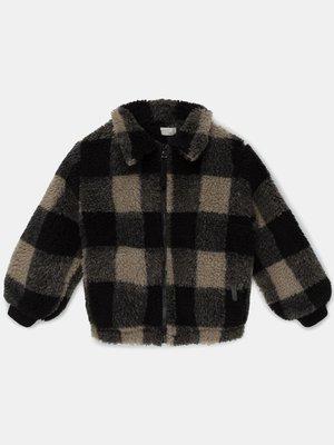 my little cozmo Plaid wool blend jacket