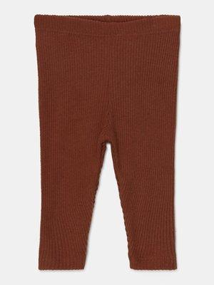 my little cozmo Soft feel ribbed legging brown