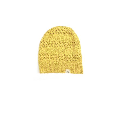 Long live the queen slouchy beanie 846 yellow twist