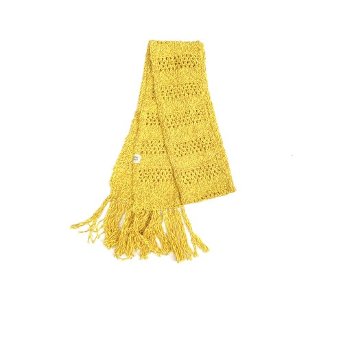 Long live the queen rough scarf 846 yellow twist