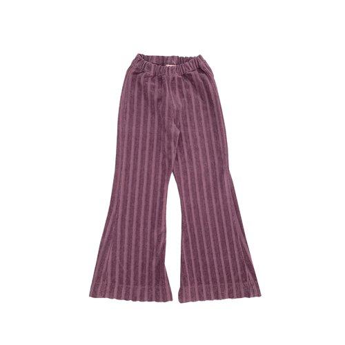 Long live the queen ribvelvet pants 814 grape