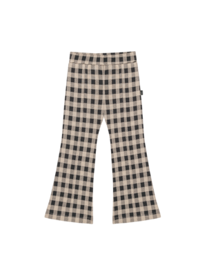 House of Jamie Flared pants charcoal vichy