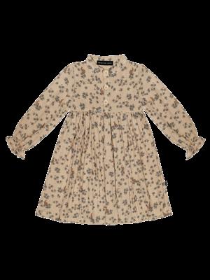 High waist dress oatmeal forest