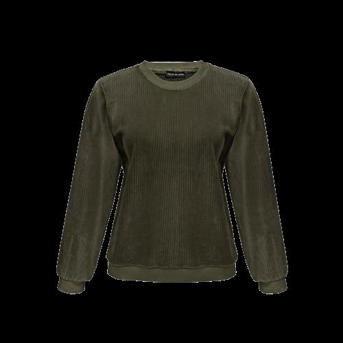 House of Jamie MOMMY balloon sweater moss rib velvet