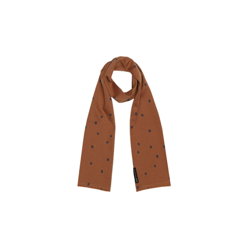 House of Jamie Long summer scarf ginger bread dots