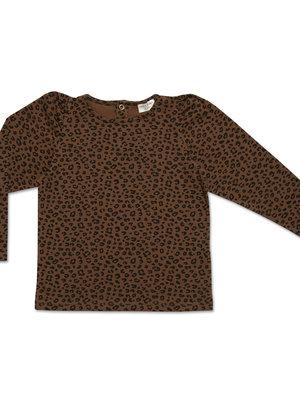 Petit blush Puff LongsleeveBrown Leopard