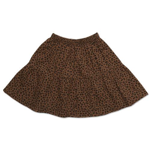 Petit blush Mini Layer Skirt Brown Leopard