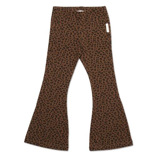 Petit blush Bowie Flared PantsBrown Leopard AOP
