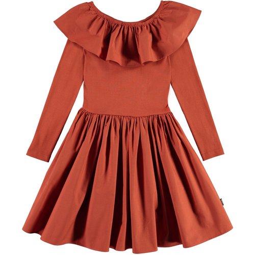 Molo Cille burnt brick dress