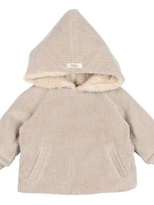 Buho Baby velour jacket stone