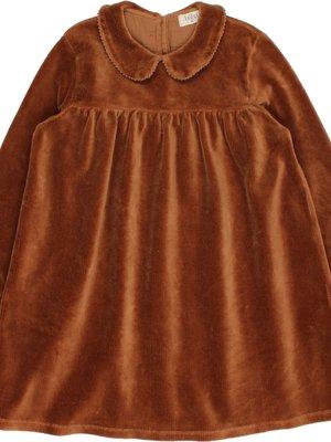 Buho VELVET DRESS muscade