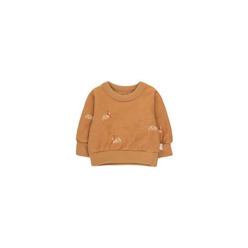 Tiny cottons SWANS BABY SWEATSHIRT clay/cappuccino
