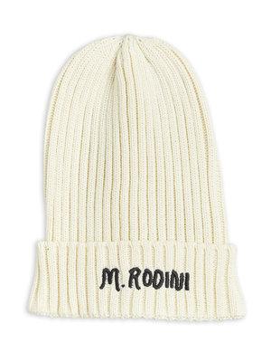 Mini rodini Fold up rib hat offwhite