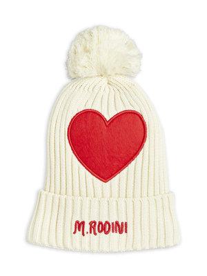 Mini rodini Heart pompom hat