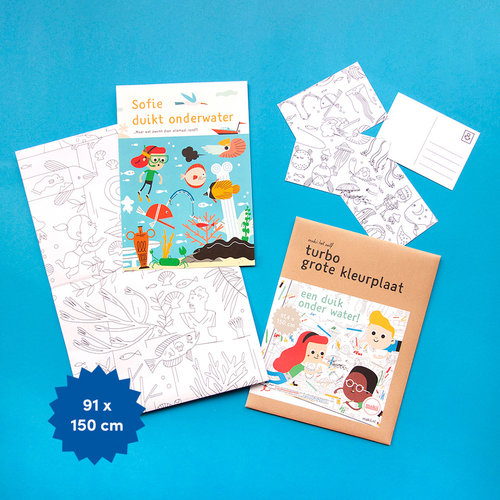 Makii Giant colouring pictures WATER
