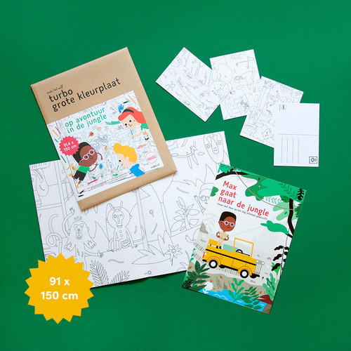 Makii Giant colouring pictures JUNGLE