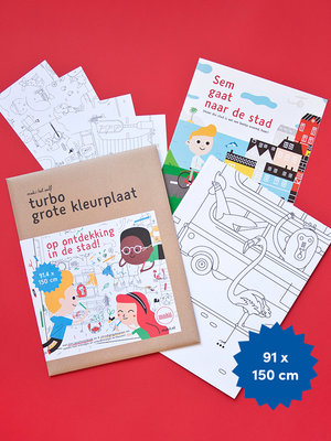 Makii Giant colouring pictures CITY