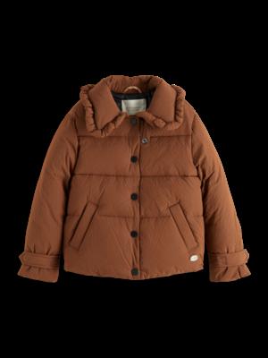 Scotch & Soda Checked puffer jacket 162928