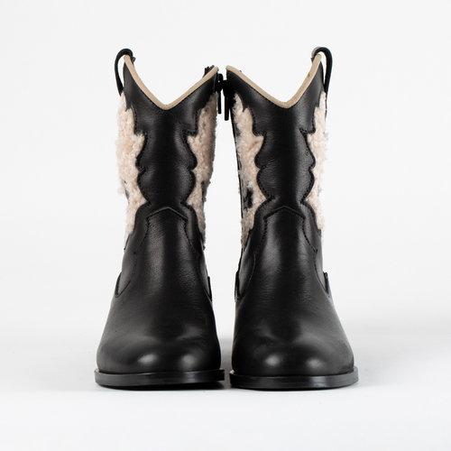 LMDI Leather boots tejasi zwart