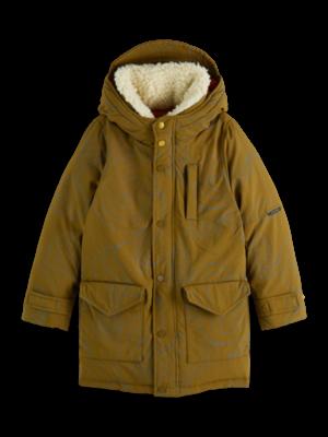 Scotch & Soda Teddy collar reflective jacket 163130