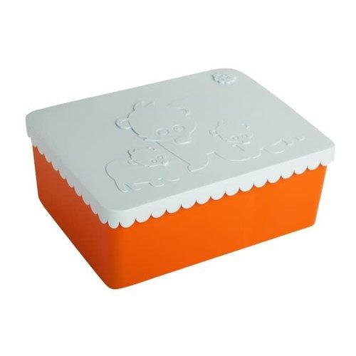 lunch box 3 compartimenten bear orange+light blue