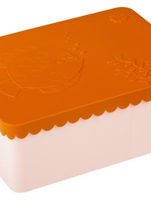 Lunch box 3 compartimenten sea life orange + light pink