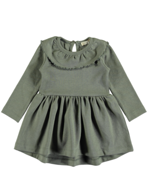 PEXI LEXI Dress Ruffle Algarve Green