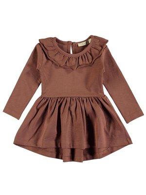 PEXI LEXI Dress Ruffle Sienna brown