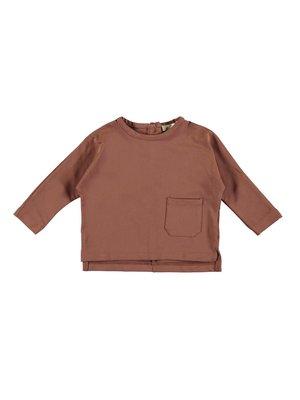 PEXI LEXI Long sleeve pocket brown sienna