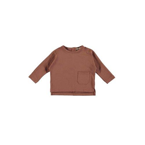 PEXI LEXI Longsleeve with pocket sienna brown
