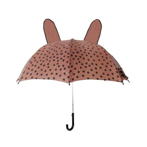 VanPauline Umbrella brown + pink dots