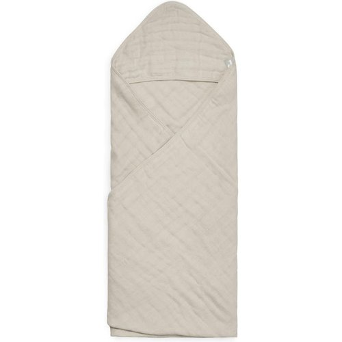 Jollein Badcape wrinkled cotton nougat