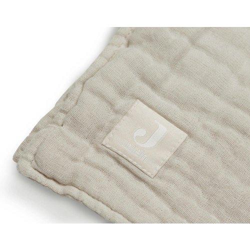 Jollein Deken wrinkled cotton 120x120 nougat