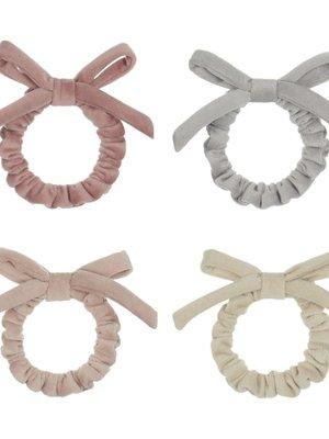 Mimi & Lula Velvet bow mini scrunchies