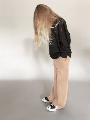 Idigdenim Mike wide pant nude