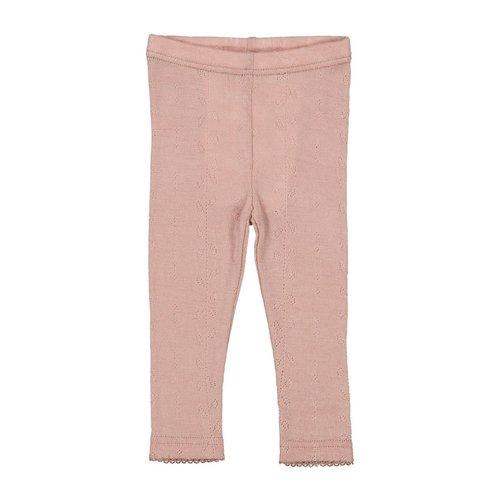 MarMAr CPH Leg wool pointelle Burnt Rose